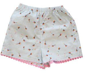 peggy green girls 2 pocket short kite print