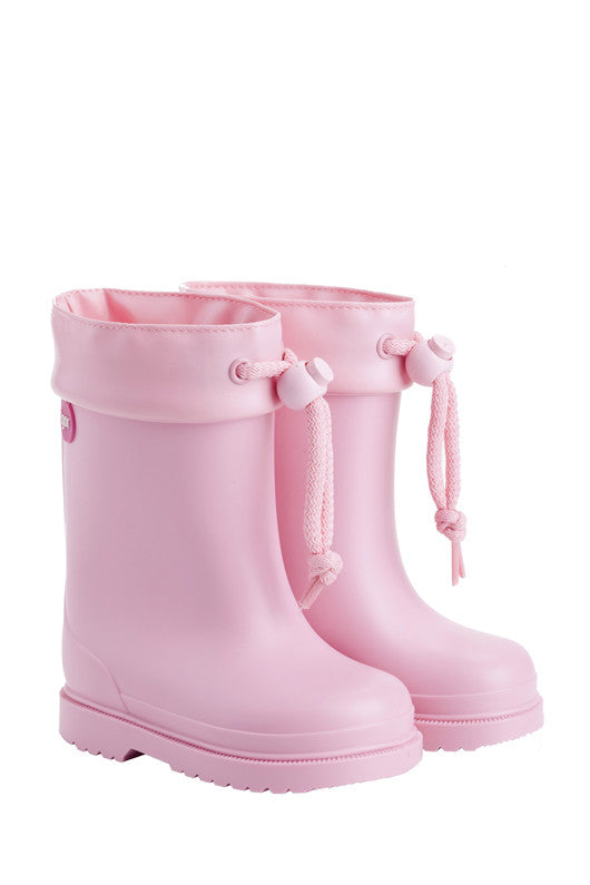 Pink Lined Rain Boot