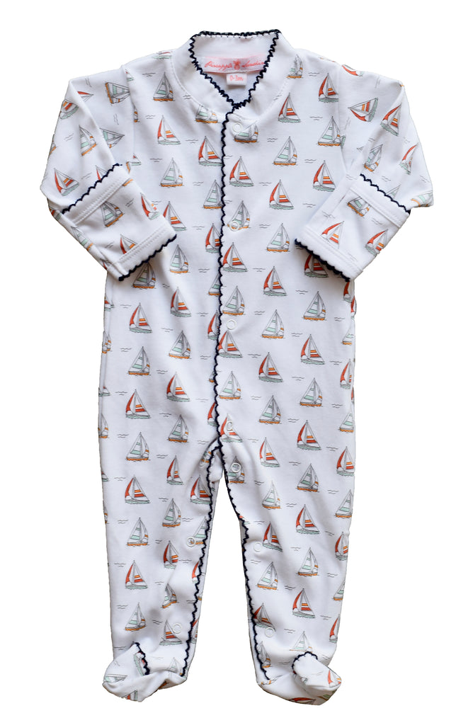 Pineapple Sunshine Sailboat Footie