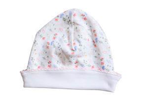 Madison Pink Floral Newborn Hat