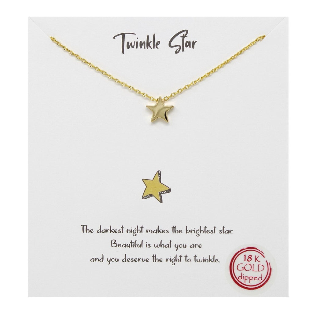 Twinkle Star 18 K Gold Dipped Necklace