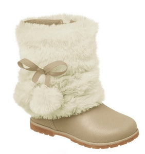 pampili girls boot with white fur