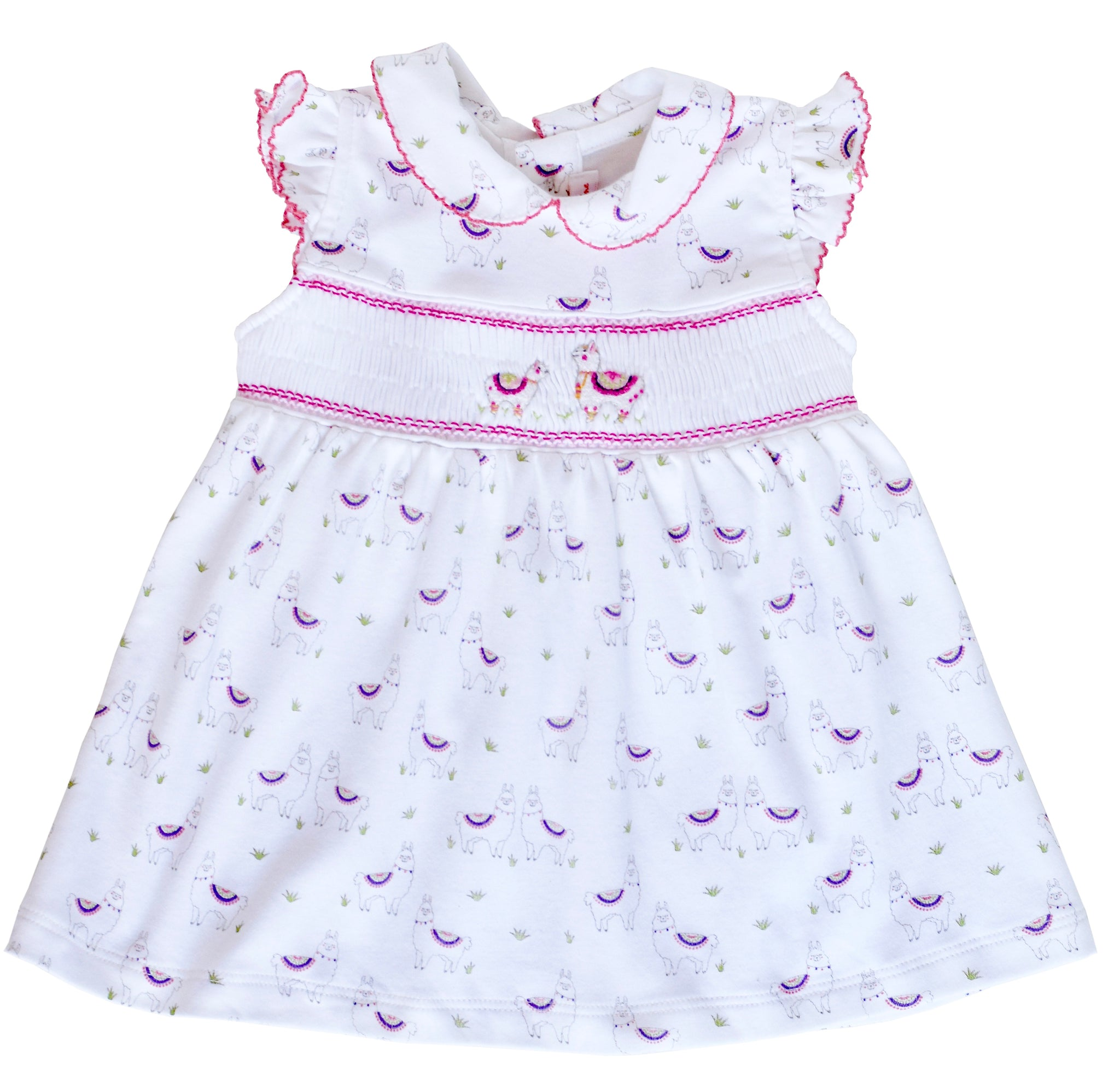 Alex the Alpaca Smocked Dress