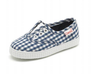 Blue Gingham Slip On