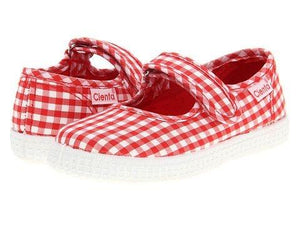 Cienta shoes red gingham mary jane - little birdies boutique