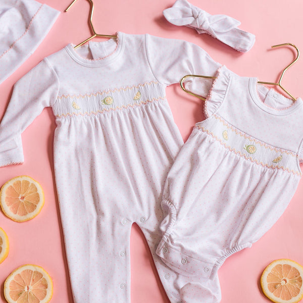 Pink Lemonade Smocked Bubble