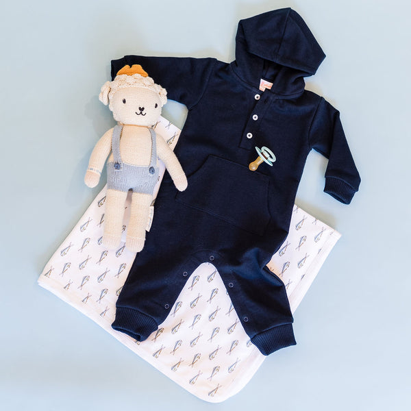 Navy Knit Jogger Jumpsuit