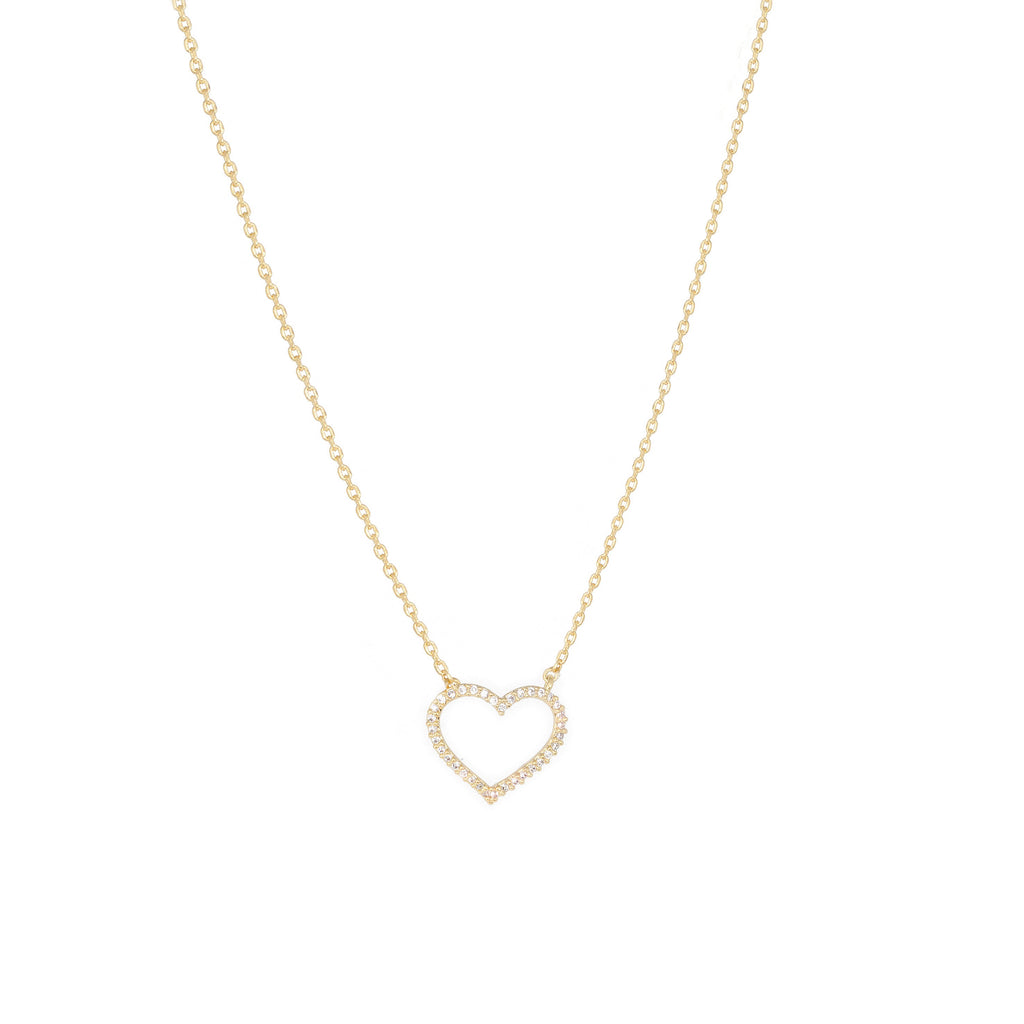 Heart Gold Dipped Necklace
