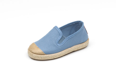 Chambray Raffia Slip On