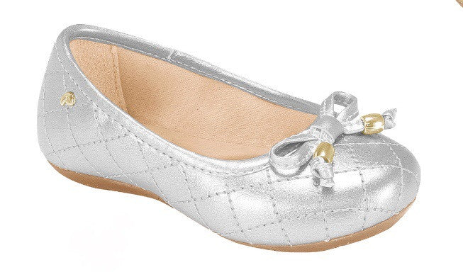 Pampili silver quilted ballet