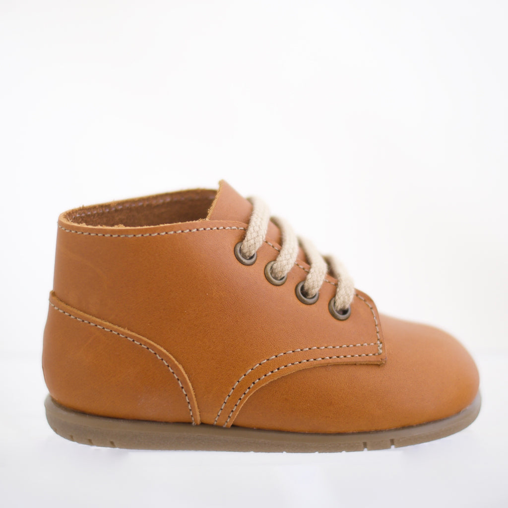 zimmerman shoes first walker in warm brown