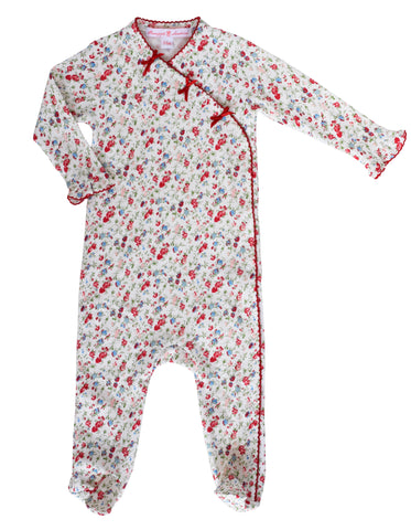 Madison Poppy Floral Footie