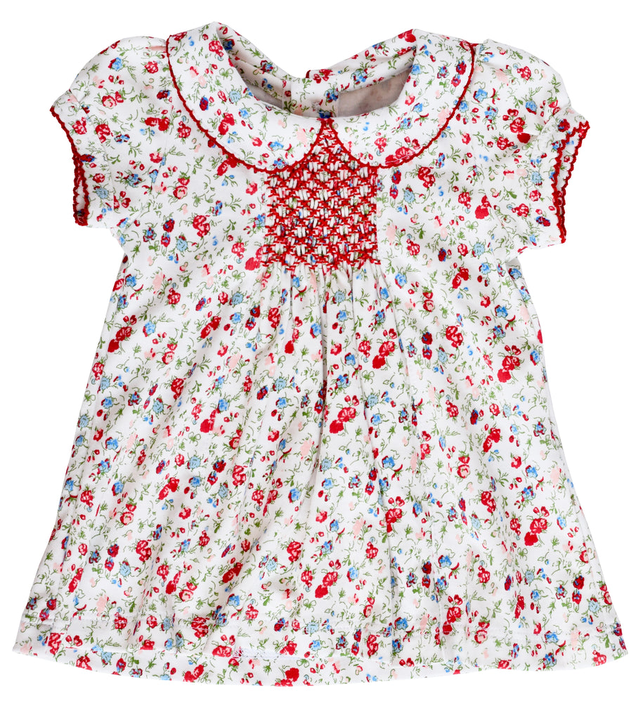 Pineapple Sunshine Poppy Floral Smocked Dress