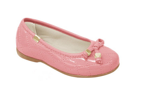 Pampili pink quilted ballet flat