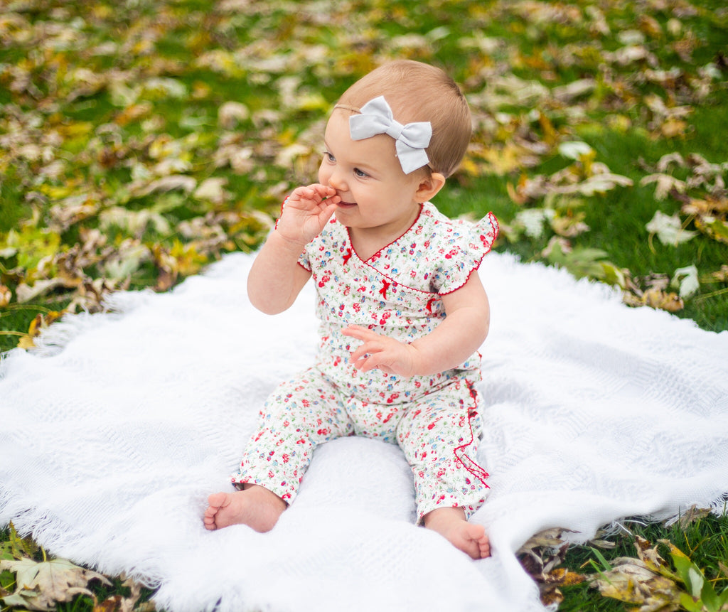 Madison Poppy Floral Romper