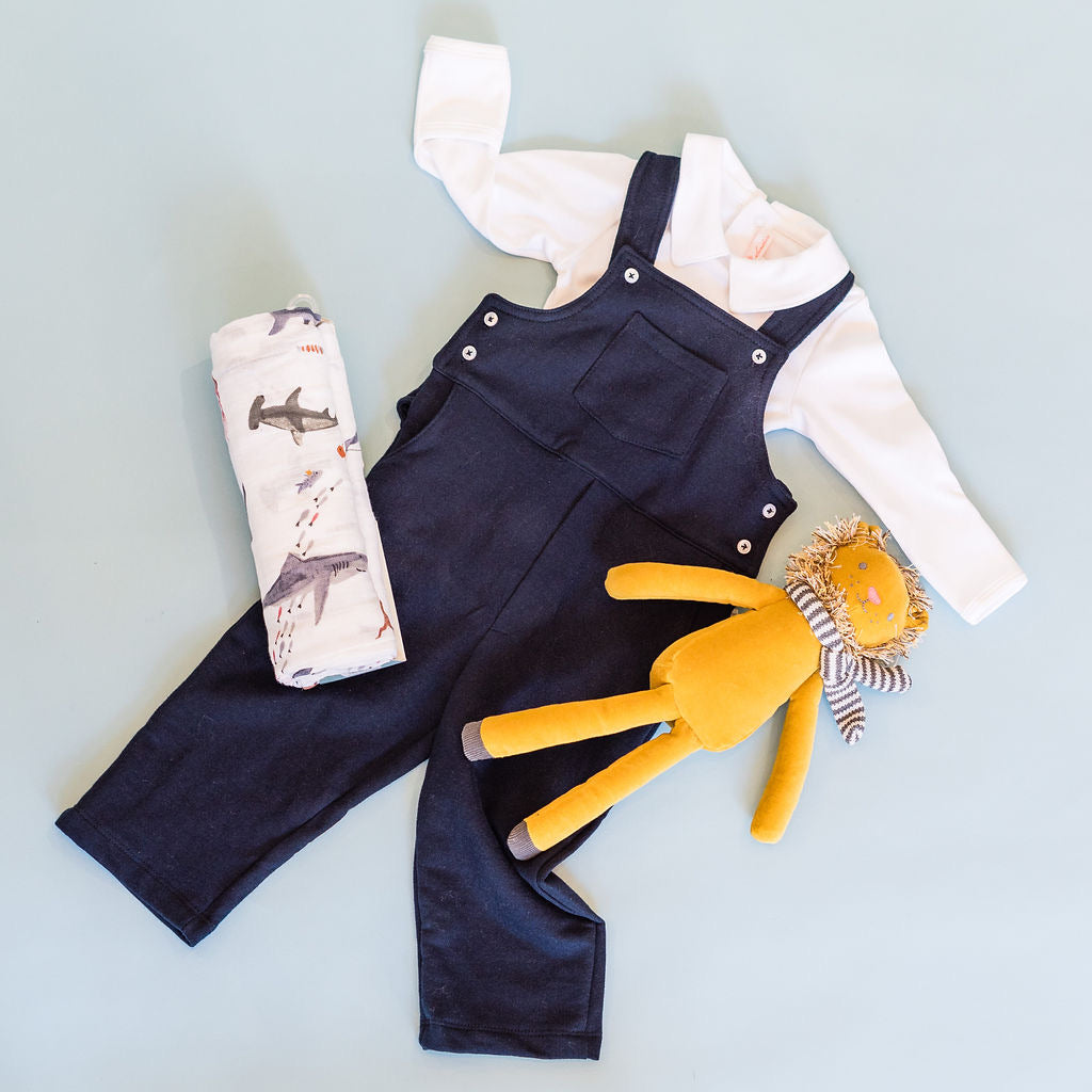 Navy Knit Dungaree