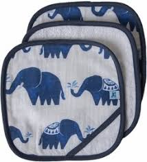 Cotton Wash Cloth 3-Pack Indie Elephant