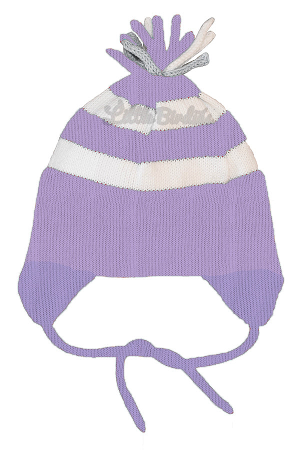 Stripe Earflap Intarsia Hat- Customizable