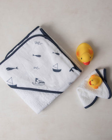 Hooded Towel Set - Nautical Harbor