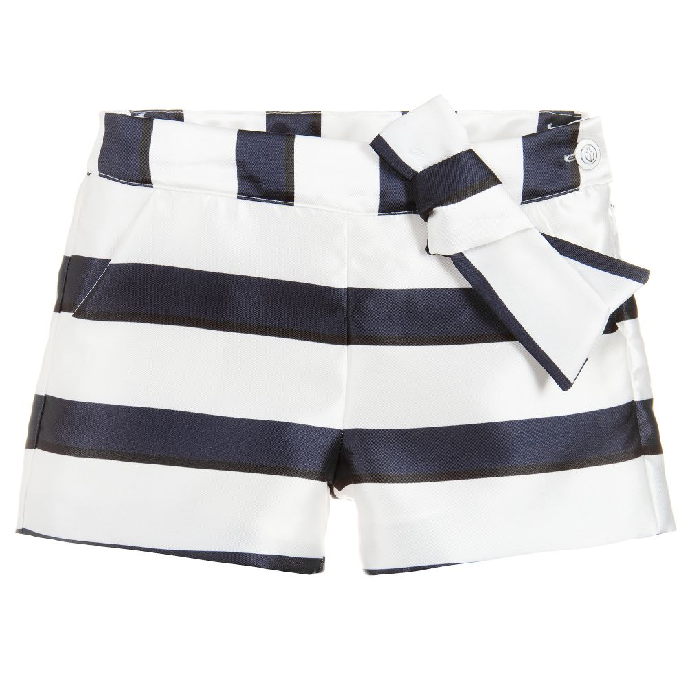 Nautical stripe short with bow from patachou