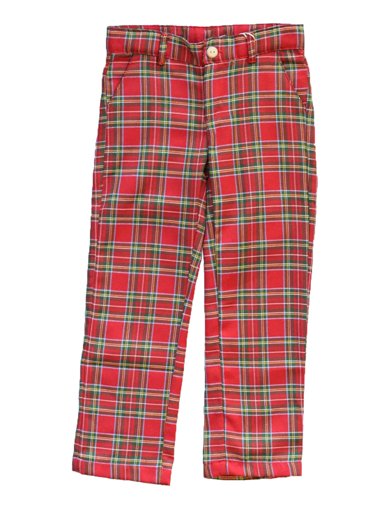 dondolo richard holiday red plaid pant