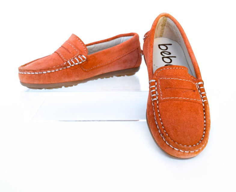 Orange Suede Loafer
