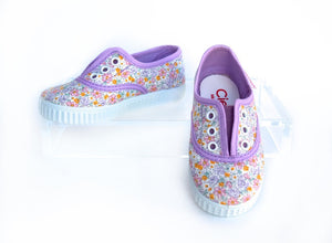 Lilac Floral Slip On