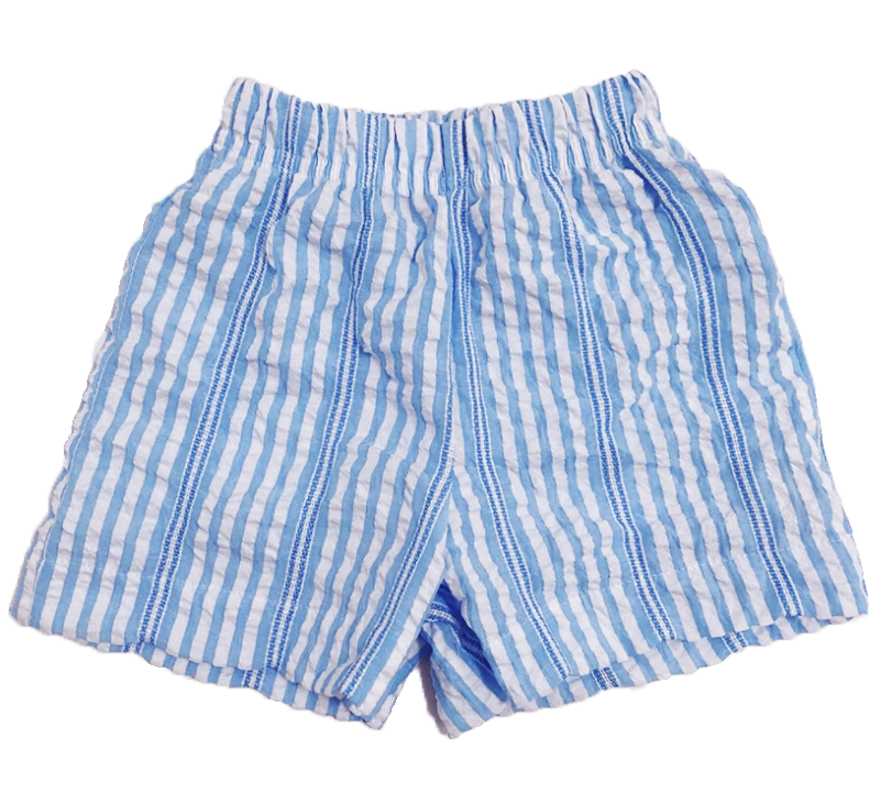 Peggy green Retro Short- Bahama Blue Seersucker