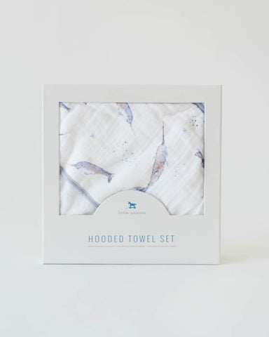 Hooded Towel Set- Narwhal