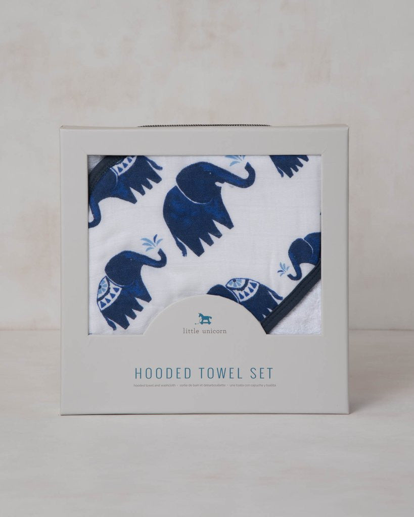 Hooded Towel Set - Indie Elephant