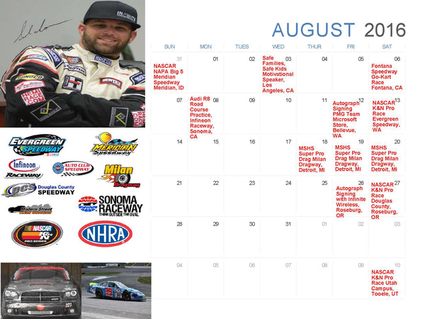 Busy Busy August Race Schedule