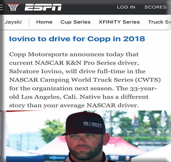 Iovino to drive for Copp Motorsports in 2018