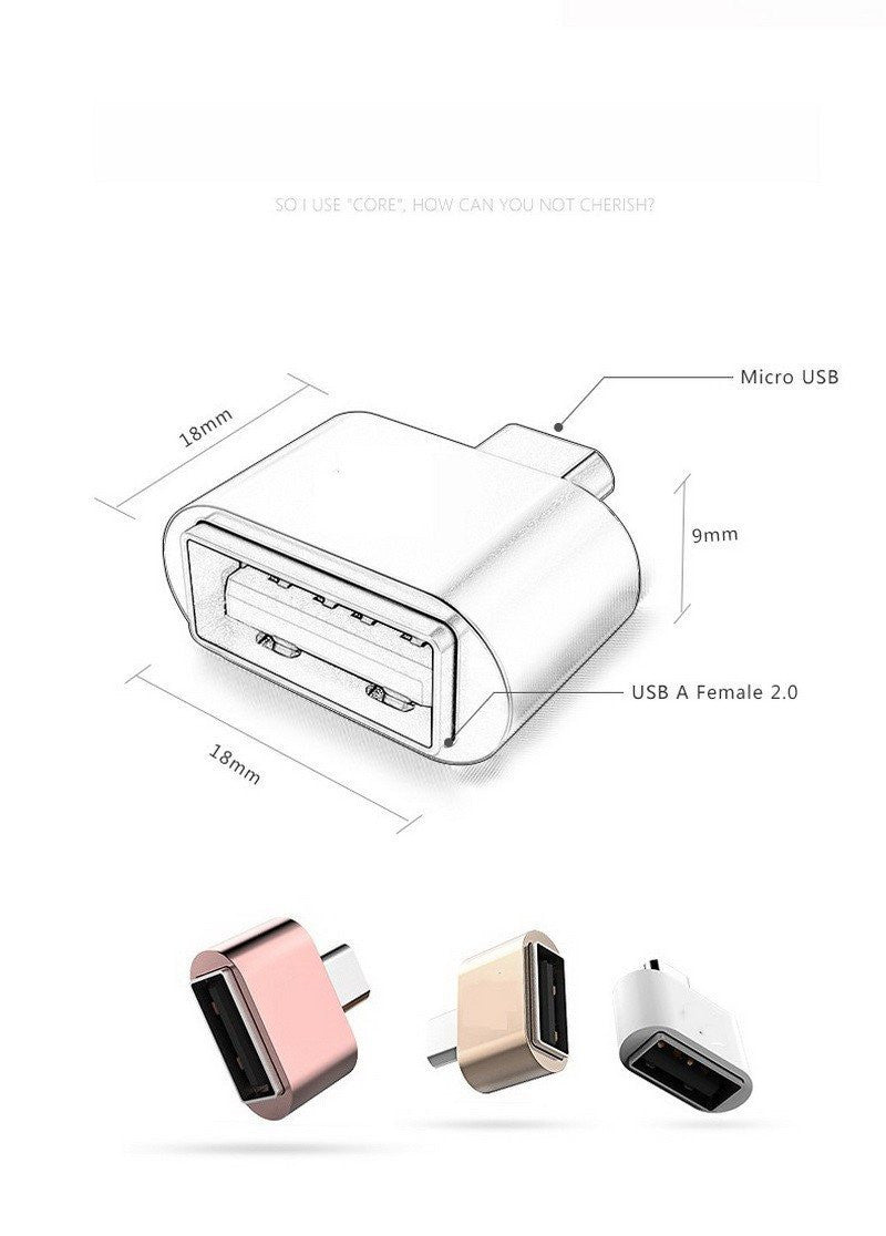 Micro USB 2.0 / USB Type - C/ IPHONE ( OTG Adapter) Buy 1 Free 1!