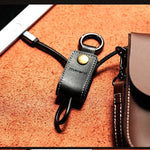 Remax Genuine Leather Keychain Charging Cable for IPhone 5/ 5s/ 6 /6s /6 Plus/ iPad