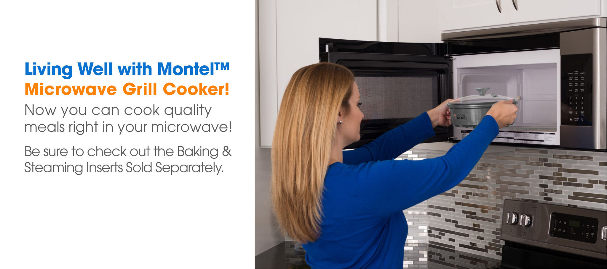 Living Well with Montel Microwave Grill Cooker