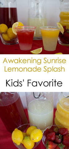 Awakening Sunrise Lemonade Kids Favorite friendly drink mix Party Rims
