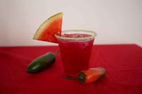 Sweet and Spicy Jalapeno Watermelon Margarita