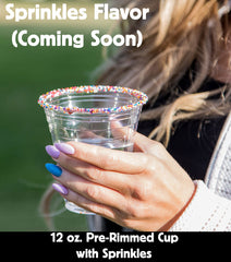 12 oz. Pre-Rimmed Cup with Sprinkles