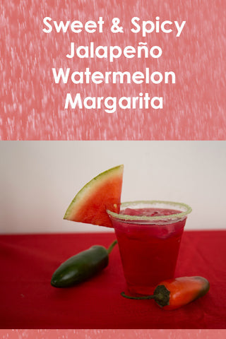 Sweet and Spicy Jalapeno Watermelon Margarita - Party Rims