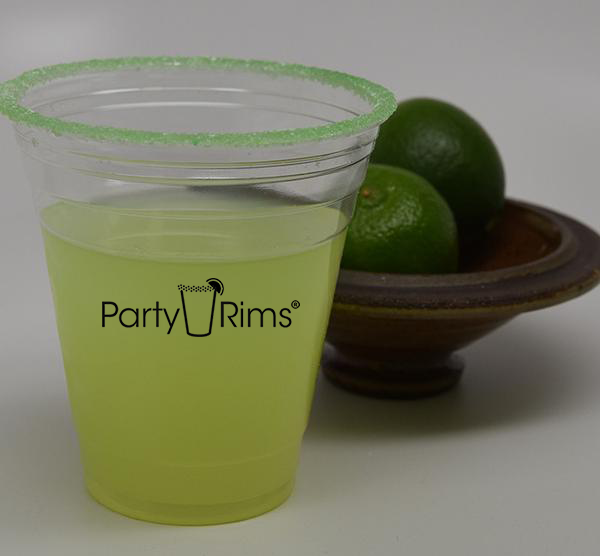 12 oz. Lime Flavored Pre-Rimmed cup