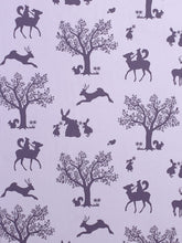 Load image into Gallery viewer, Enchanted Wood Wallpaper - Aubergine on Soft Lilac