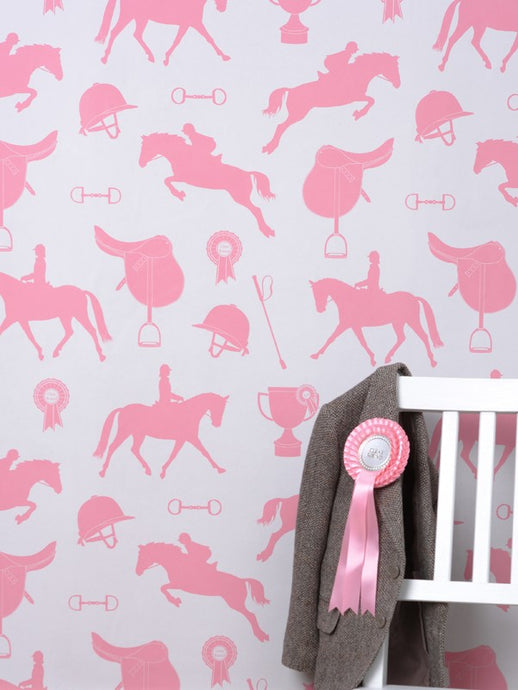 Gymkhana Wallpaper - Coral Pink on Sand