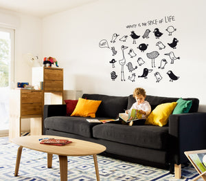 Variety is the Spice Wall Stickers