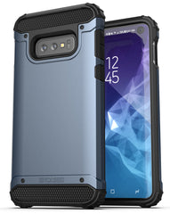 Encased Galaxy S10e Belt Clip Holster Case (2019 Scorpio Armor) Ultra Protective Tough Grip Cover with Holder for Samsung Galaxy S10 E - Slate Blue