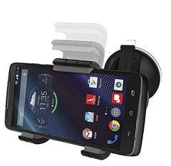 Samsung Galaxy S6 & S6 Edge Easy-dock Car Mount Holder [Windshield/Dashboard Cradle]New 2015 Version Encased