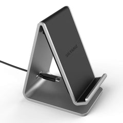 Wireless Charger Stand, Galvanox Aluminum Qi Power Station (QC3.0) Adaptive Fast Charging, Works with All Samsung Galaxy S10 Models