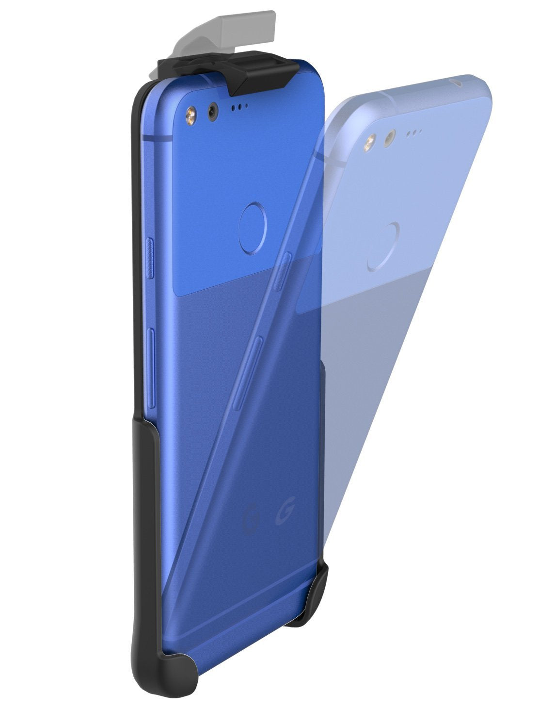 Belt Clip Holster for Google Pixel (5.0) By Encased (case free design)