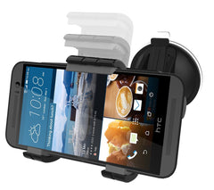 HTC ONE M9 Car Mount Dock - Windshield & Dashboard Compatible (Vibration-free design)Encased [HTC One M9]