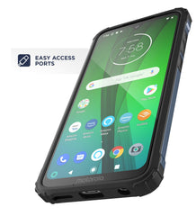 Encased Heavy Duty Moto G7 Case (2019 Scorpio Series) Military Grade Rugged Phone Protection Cover (Motorola G7) Slate Blue