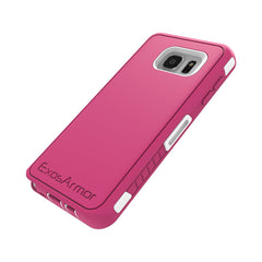 "Samsung Galaxy Note 5 ""Exos Armor"" Tough Case & Belt Clip (Quick-release Holster Design) (Pink/White)"